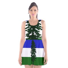 Flag Of Cascadia Scoop Neck Skater Dress