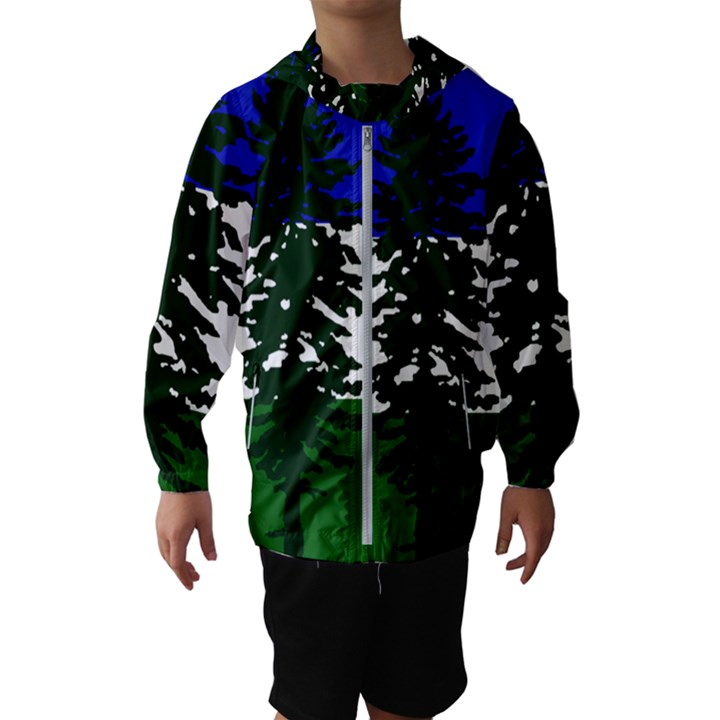 Flag of Cascadia Hooded Wind Breaker (Kids)