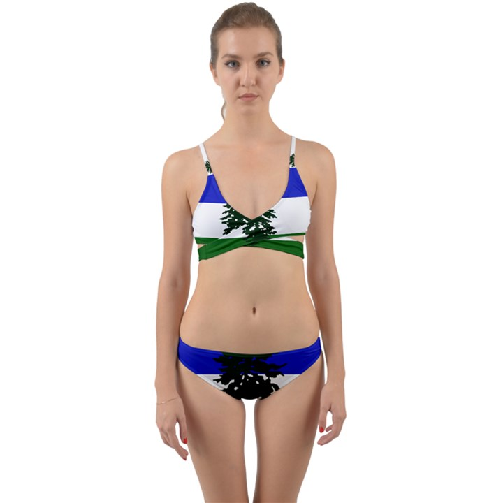 Flag of Cascadia Wrap Around Bikini Set