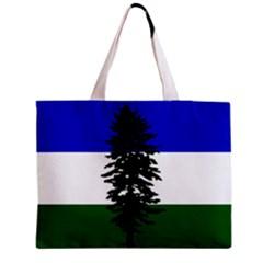 Flag Of Cascadia Zipper Medium Tote Bag