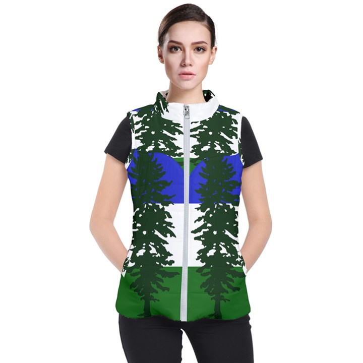 Flag of Cascadia Women s Puffer Vest