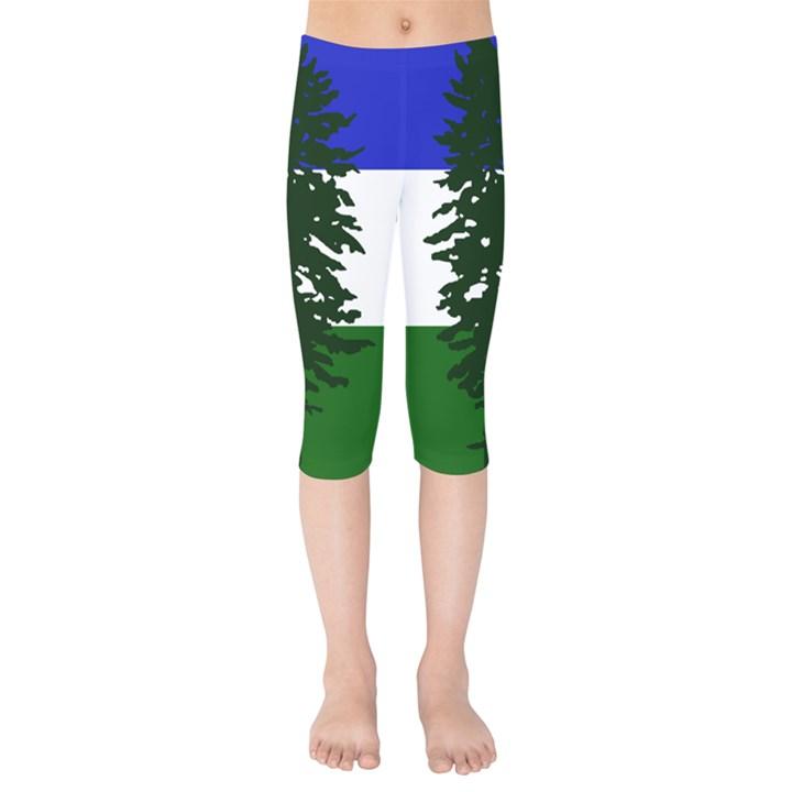 Flag of Cascadia Kids  Capri Leggings