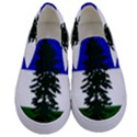Flag of Cascadia Kids  Canvas Slip Ons View1