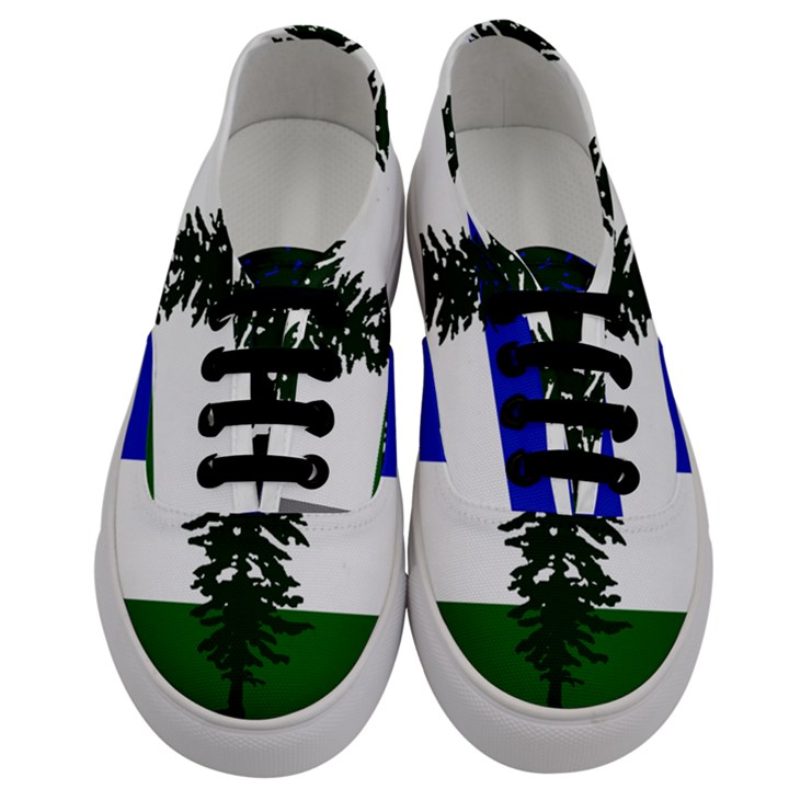 Flag of Cascadia Men s Classic Low Top Sneakers