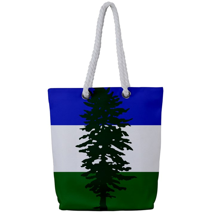 Flag of Cascadia Full Print Rope Handle Tote (Small)