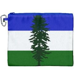 Flag Of Cascadia Canvas Cosmetic Bag (xxxl)