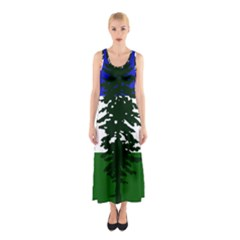 Flag Of Cascadia Sleeveless Maxi Dress