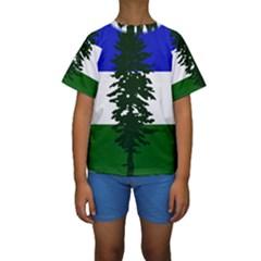 Flag Of Cascadia Kids  Short Sleeve Swimwear