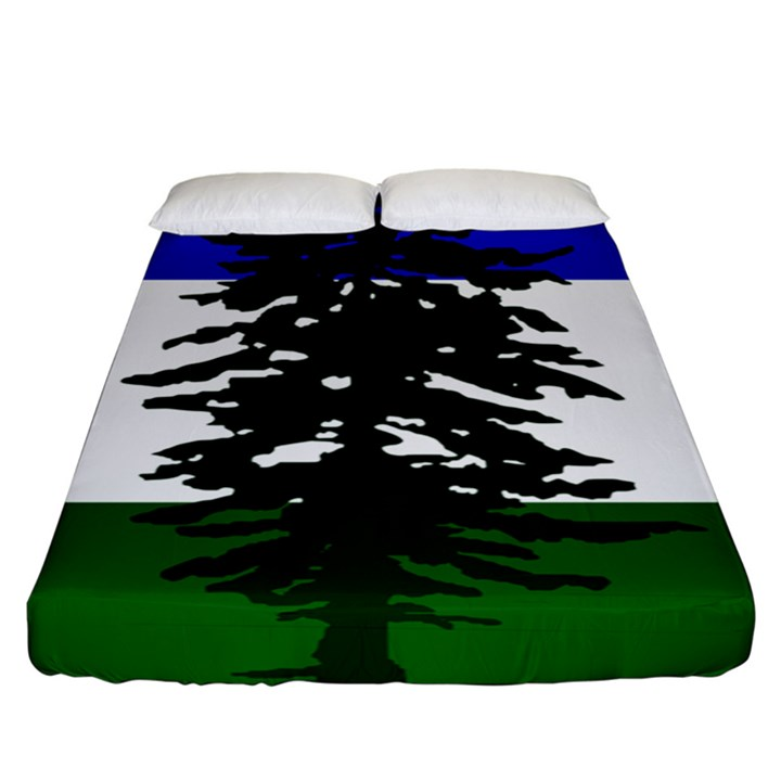 Flag of Cascadia Fitted Sheet (King Size)