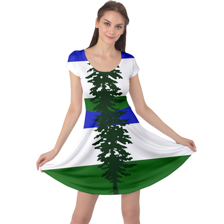 Flag of Cascadia Cap Sleeve Dress