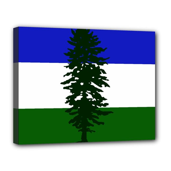 Flag of Cascadia Canvas 14  x 11