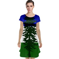 Flag Of Cascadia Cap Sleeve Nightdress