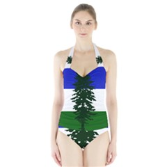 Flag Of Cascadia Halter Swimsuit