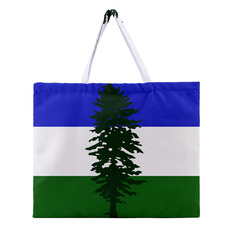 Flag of Cascadia Zipper Large Tote Bag