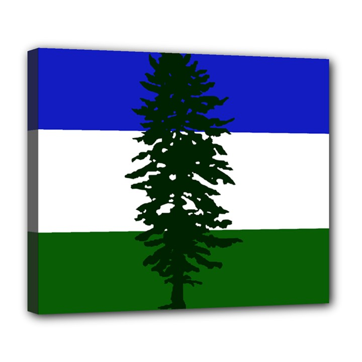 Flag of Cascadia Deluxe Canvas 24  x 20