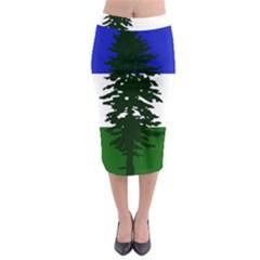 Flag Of Cascadia Midi Pencil Skirt