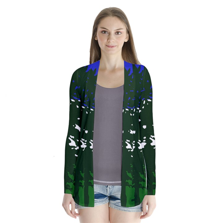 Flag of Cascadia Drape Collar Cardigan