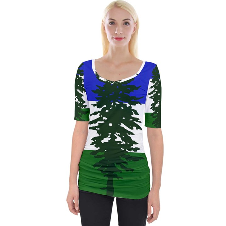 Flag of Cascadia Wide Neckline Tee