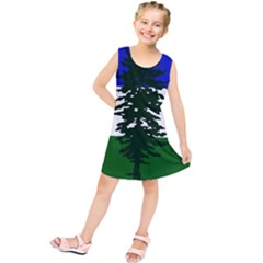 Flag Of Cascadia Kids  Tunic Dress
