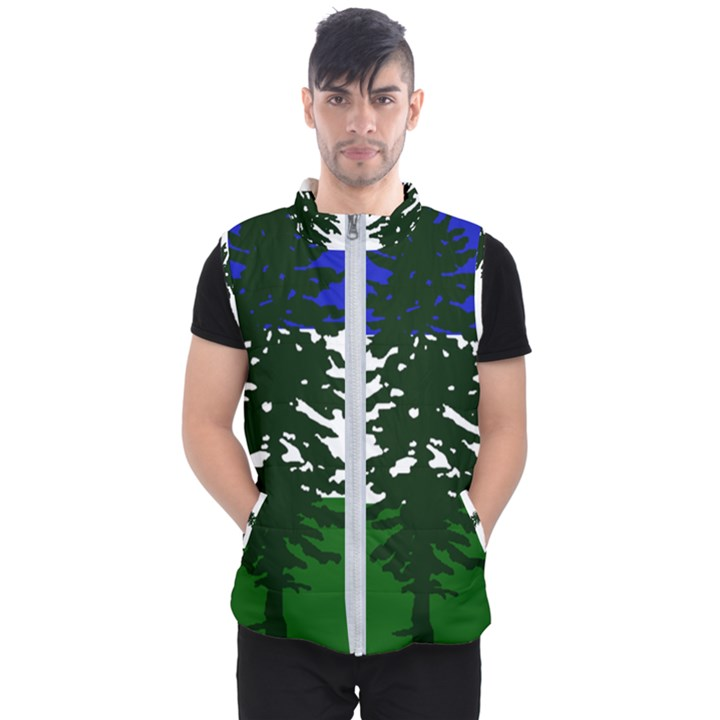Flag of Cascadia Men s Puffer Vest