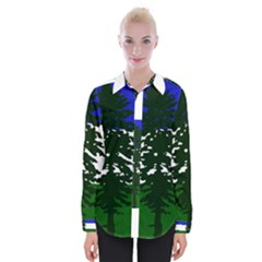 Flag Of Cascadia Womens Long Sleeve Shirt