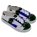 Flag of Cascadia Kids  Classic Low Top Sneakers View3