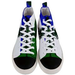 Flag Of Cascadia Men s Mid Top Canvas Sneakers