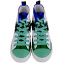 Flag of Cascadia Women s Mid-Top Canvas Sneakers View1