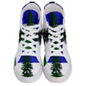 Flag of Cascadia Men s Hi-Top Skate Sneakers View1