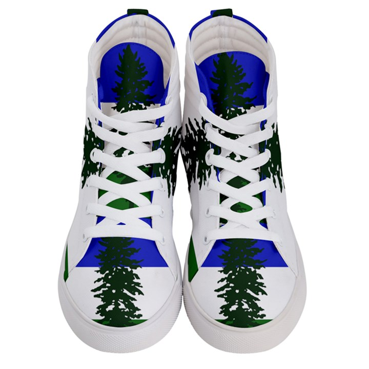 Flag of Cascadia Women s Hi-Top Skate Sneakers