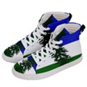 Flag of Cascadia Women s Hi-Top Skate Sneakers View2