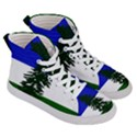 Flag of Cascadia Women s Hi-Top Skate Sneakers View3