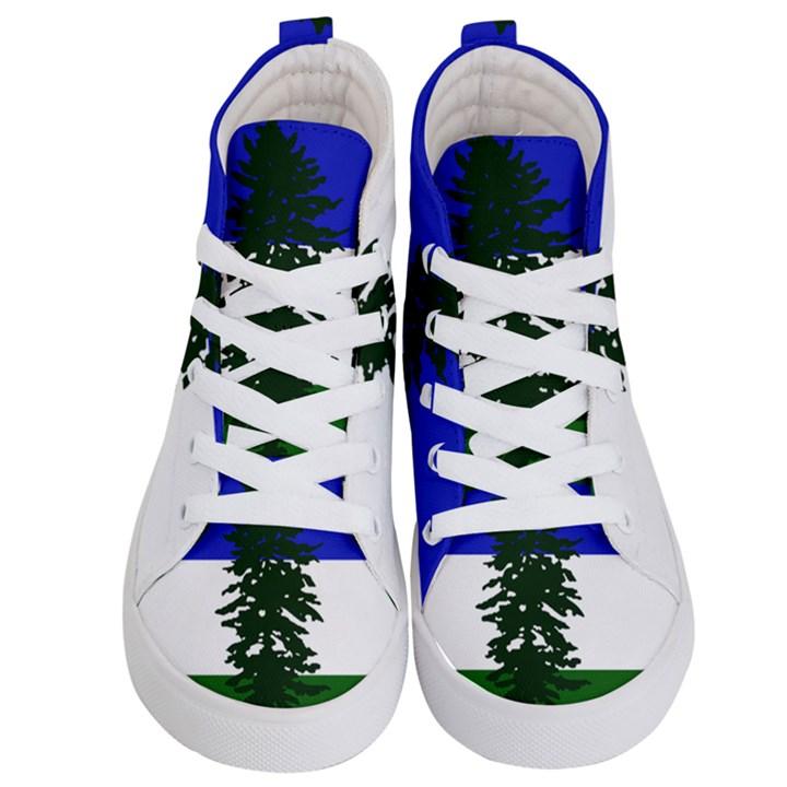 Flag of Cascadia Kid s Hi-Top Skate Sneakers
