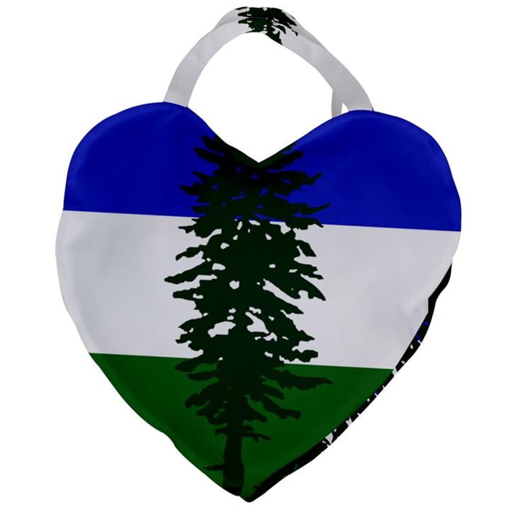 Flag of Cascadia Giant Heart Shaped Tote