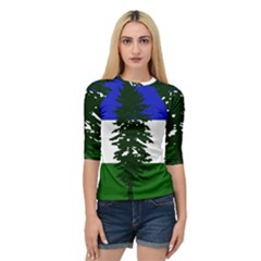 Flag Of Cascadia Quarter Sleeve Raglan Tee
