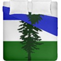 Flag of Cascadia Duvet Cover Double Side (King Size) View1