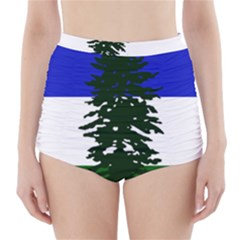 Flag Of Cascadia High Waisted Bikini Bottoms