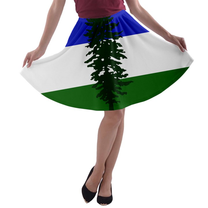 Flag of Cascadia A-line Skater Skirt