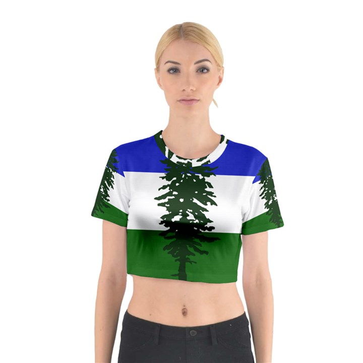 Flag of Cascadia Cotton Crop Top