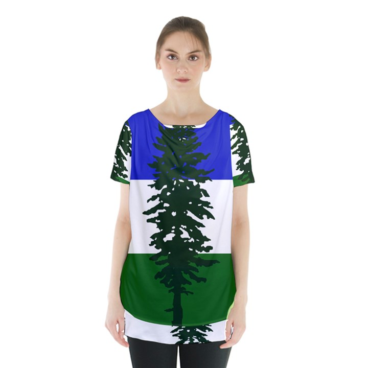 Flag of Cascadia Skirt Hem Sports Top