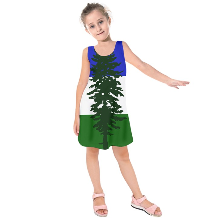 Flag of Cascadia Kids  Sleeveless Dress