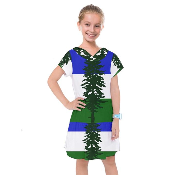 Flag of Cascadia Kids  Drop Waist Dress