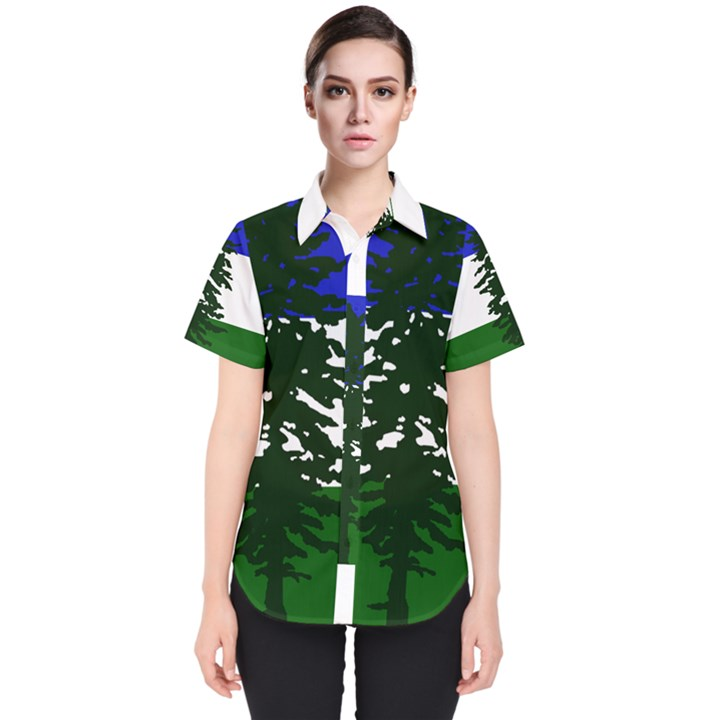 Flag of Cascadia Women s Short Sleeve Shirt