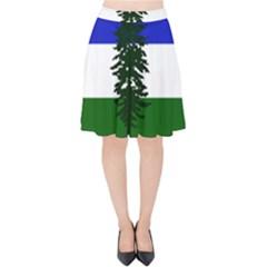 Flag Of Cascadia Velvet High Waist Skirt