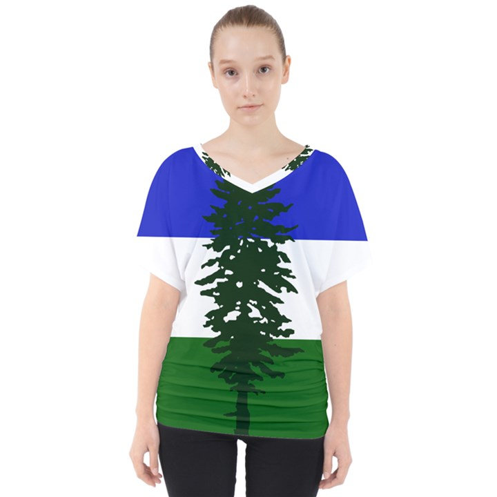 Flag of Cascadia V-Neck Dolman Drape Top