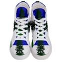 Flag of Cascadia Men s Hi-Top Skate Sneakers View1