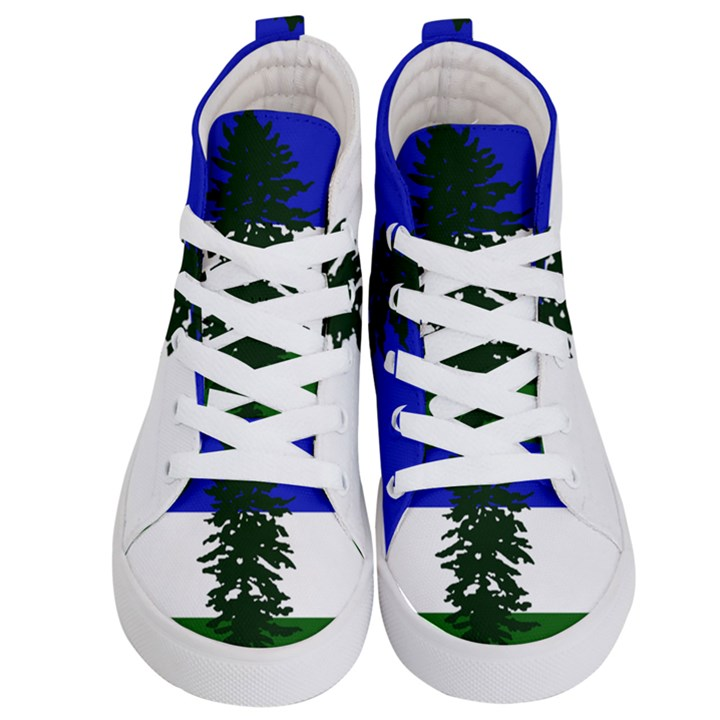 Flag of Cascadia Kid s Hi-Top Skate Sneakers