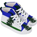 Flag of Cascadia Kid s Hi-Top Skate Sneakers View3