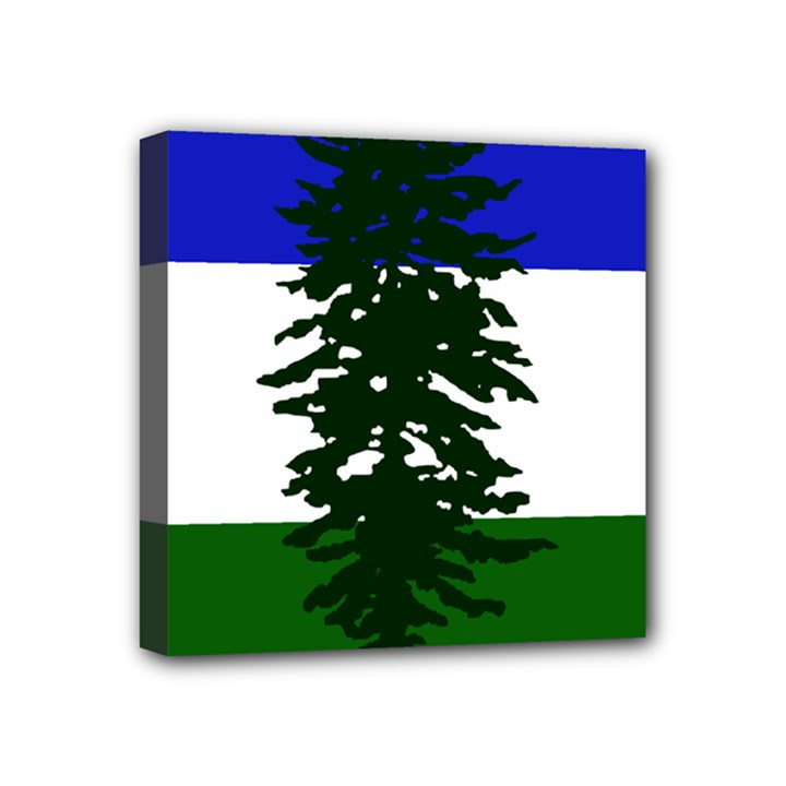 Flag of Cascadia Mini Canvas 4  x 4