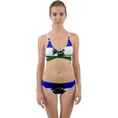 Flag Of Cascadia Wrap Around Bikini Set